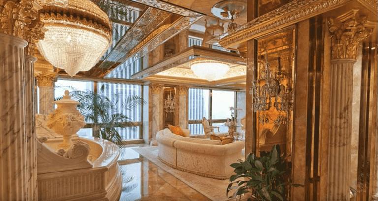 A glimpse of Trump's condo in Trump tower, New York City.