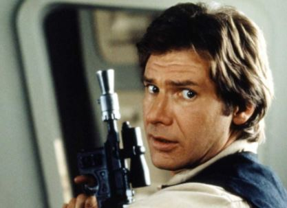 Harrison Ford as Han Solo on Star Wars