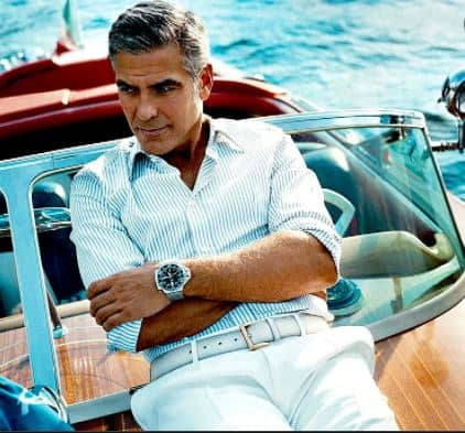 George posing on his Riva Yacht