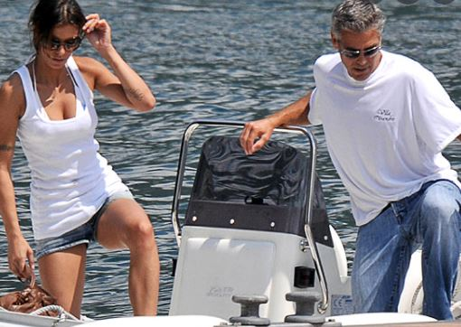 The Clooney's on vacation