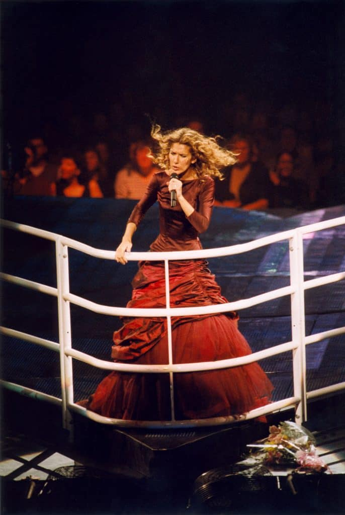 Dion During one of her concerts