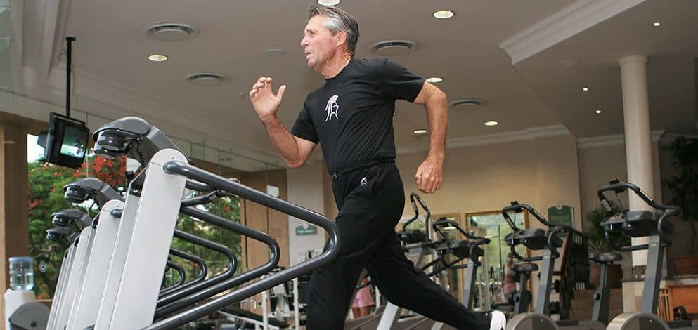 Gary Player on Treadmill