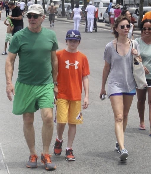 Mr. and Mrs. Ford along with son Liam in Brazil