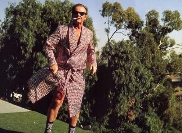 Nicholson Golfing in his House