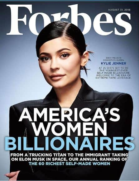 Kylie on Forbes