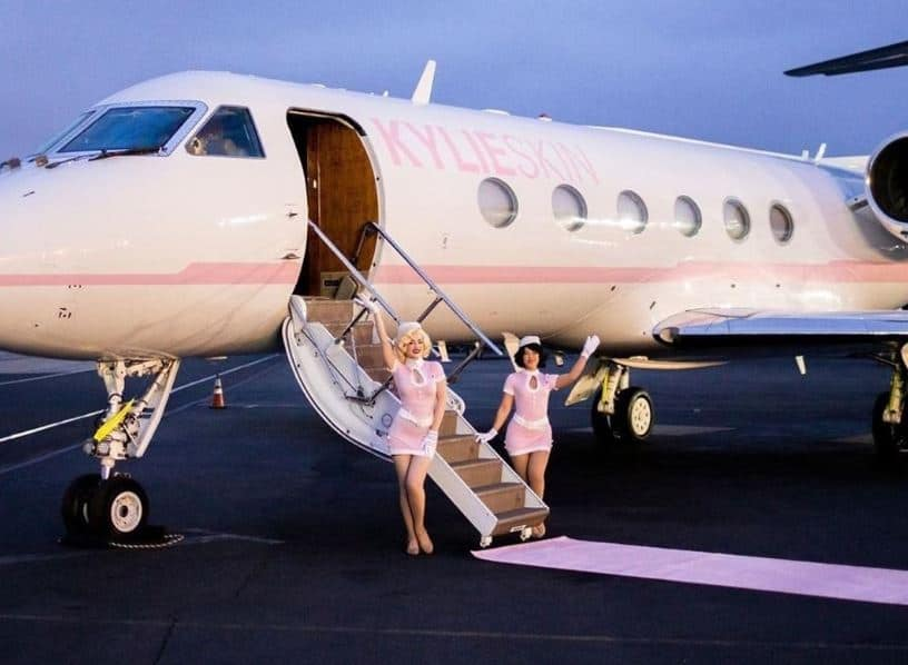 Kylie's Private Jet