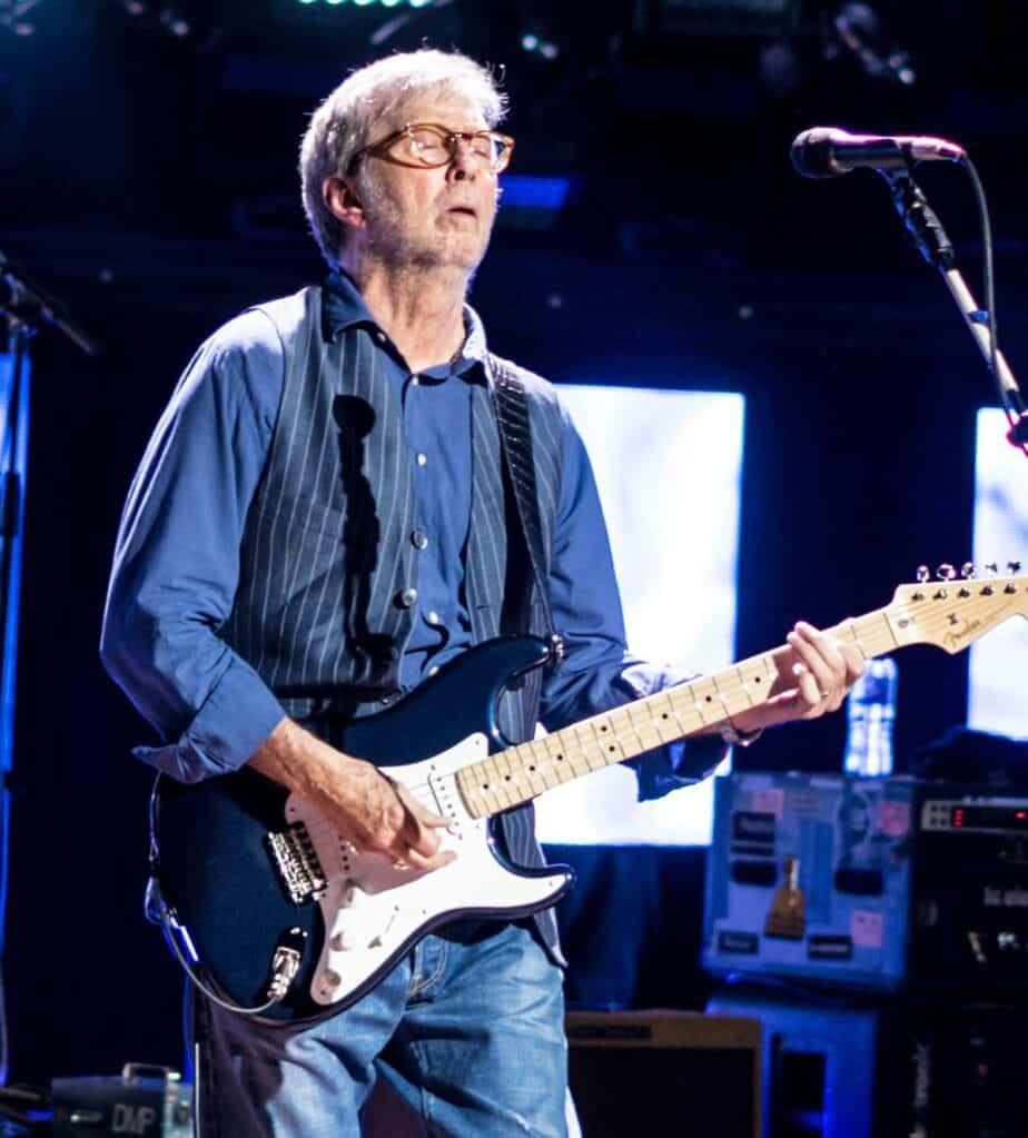 Eric Clapton playing guitar