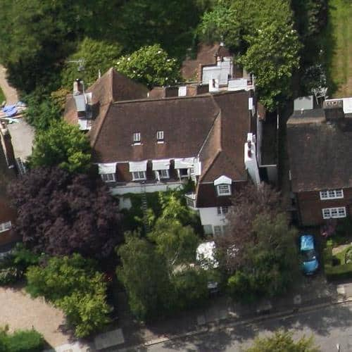 Aerial View Of Jonathan's House In London.
