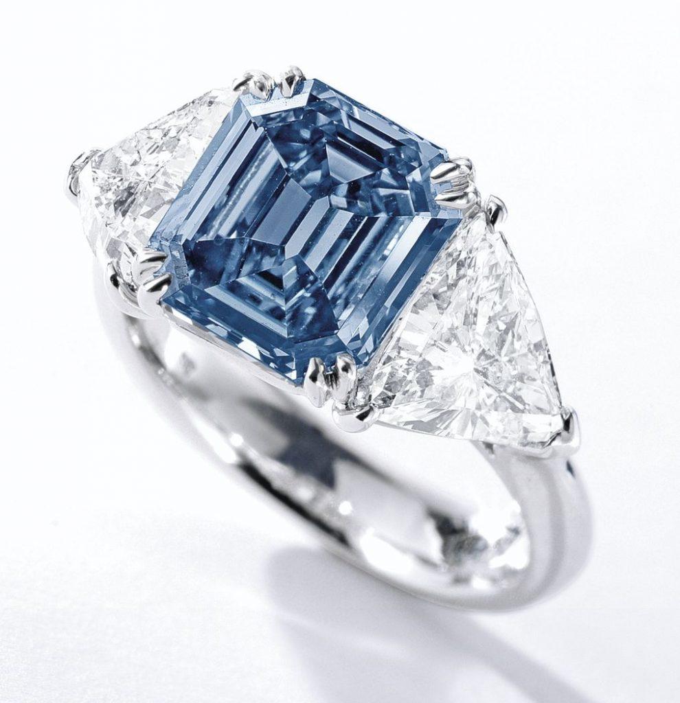Chopard-blue-diamond-engagement-ring