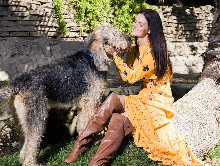 with-her-dog