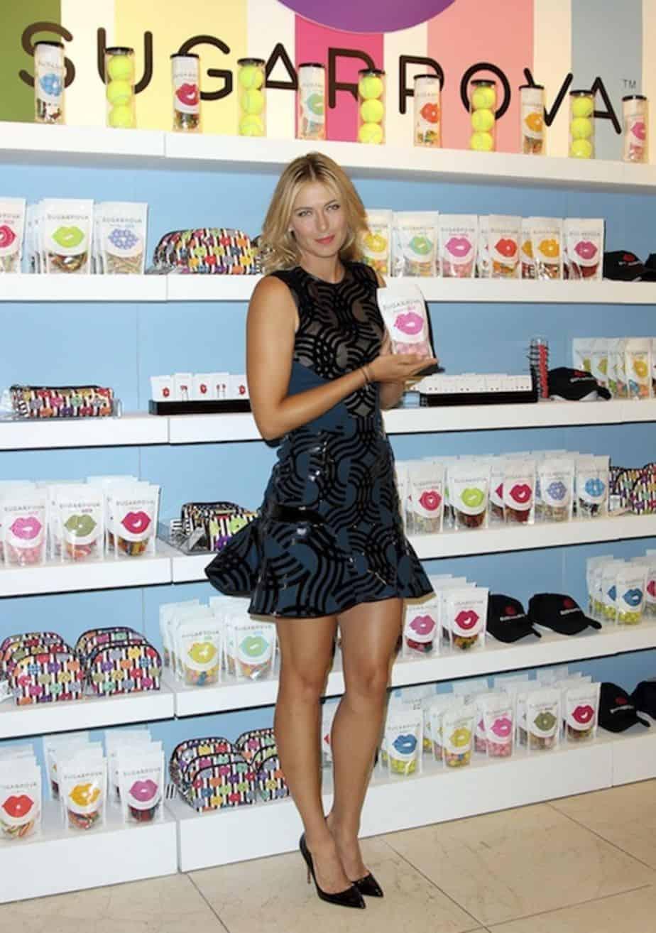 Maria Sharapova in her Sugarpova store