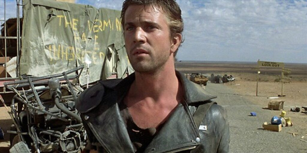 Mel Gibsons's first movie apperance in Mad Max directed by George Miller and George Ogilvie in 1985.