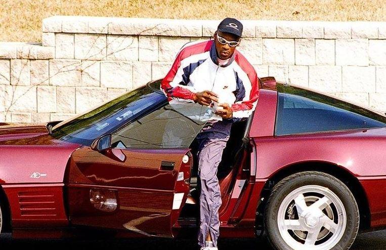 Michael Jordan Getting Out Of His Car