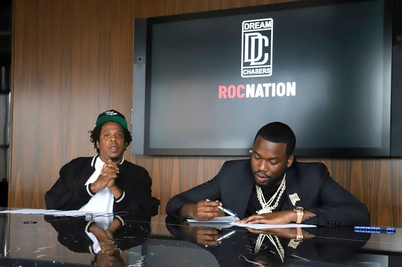 Meek Mill with Roc Nation.