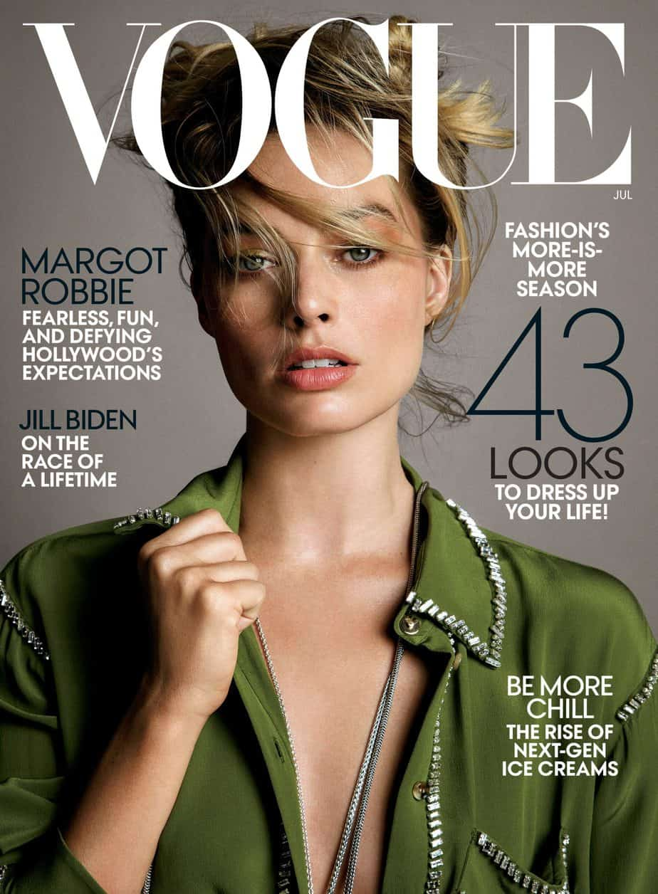 Margot on the cover of 2019's Vogue magazine
