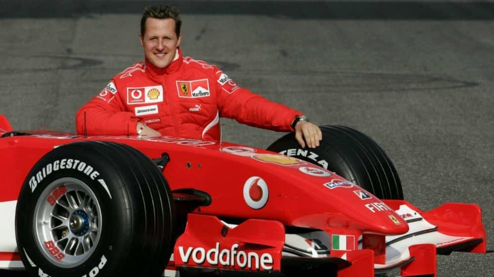 Michael Schumacher With His Ferrari F1